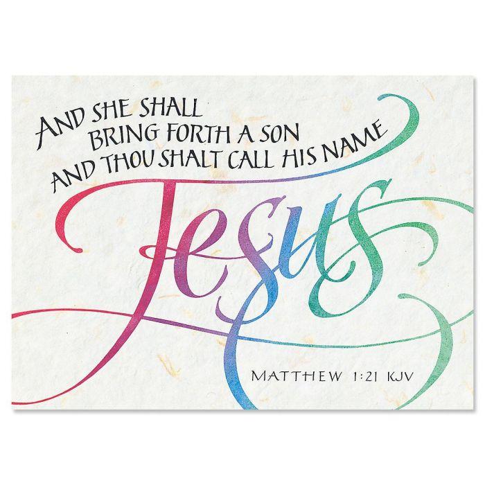 Call His Name Jesus Religious Christmas Cards