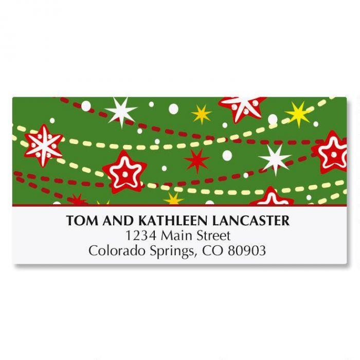 Cheerful Christmas Tree Address Labels
