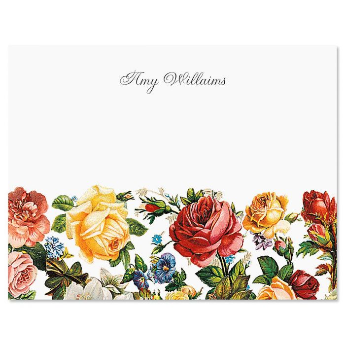 Victorian Rose Note Cards
