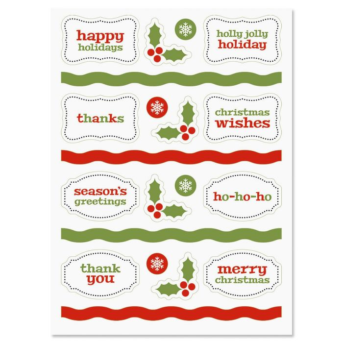 Christmas Make-A-Card Stickers