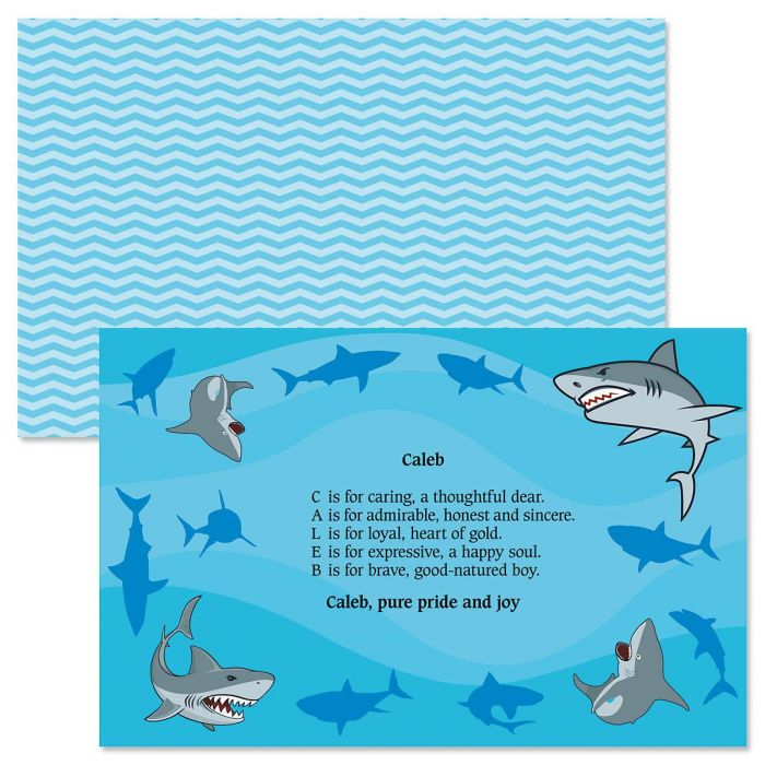 Sharks Name Poem Kids' Placemats