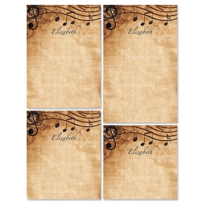 Sheet Music Personalized Notepad Set