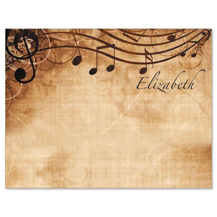 Sheet Music Correspondence Cards