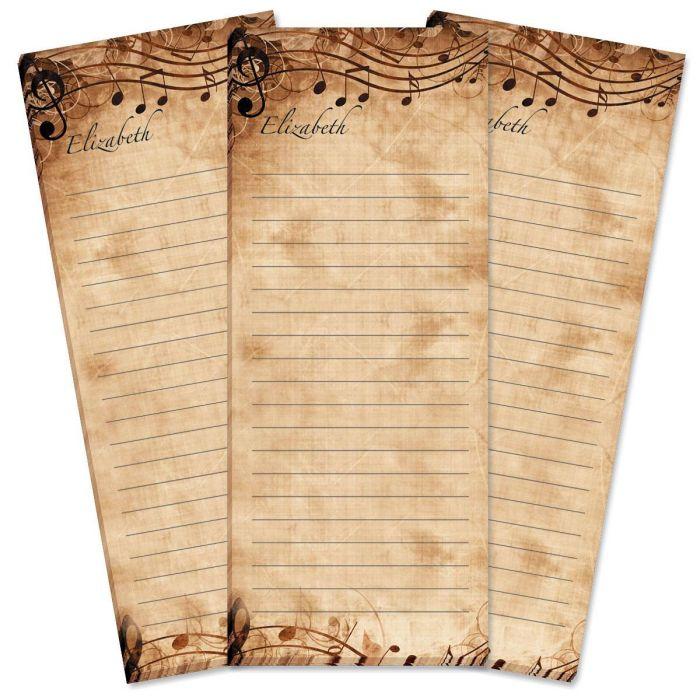Sheet Music Lined Shopping List Pads