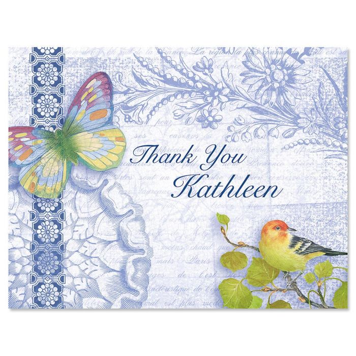 Exotic Prints Personalized Thank You Cards
