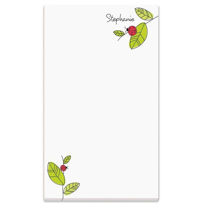 Ladybugs Personalized Notepads