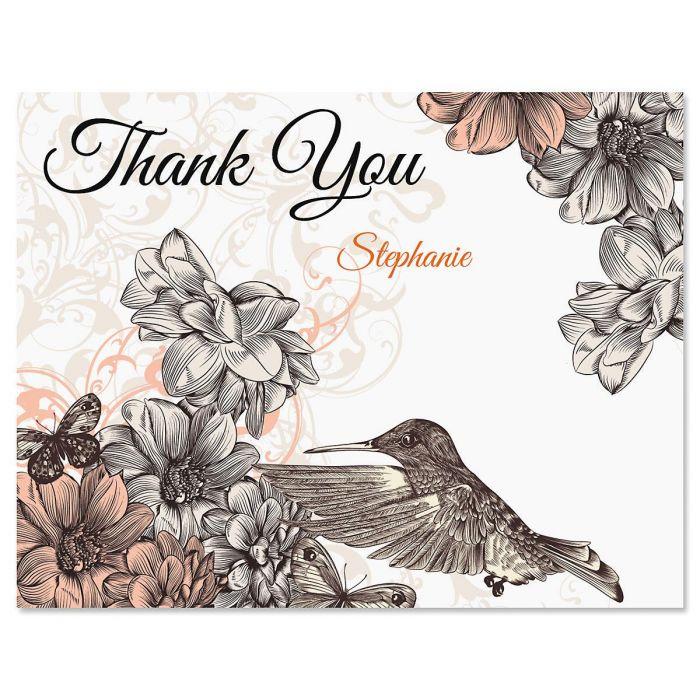 Hummingbird Garden Thank You Cards