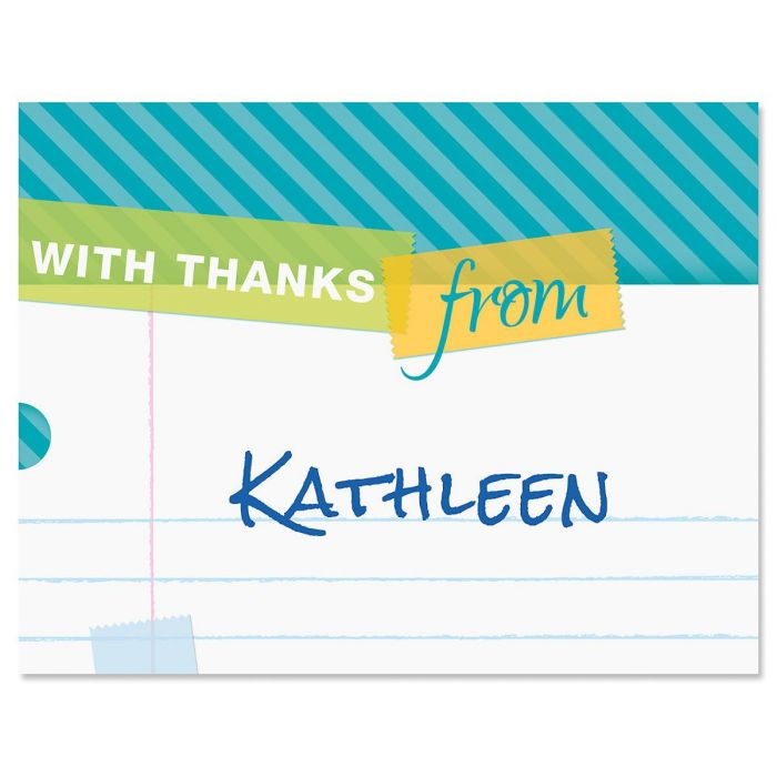 Tape a Note Personalized Thank You Cards