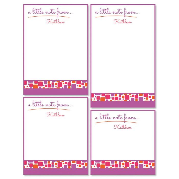 Noteworthy Personalized Notepad Set