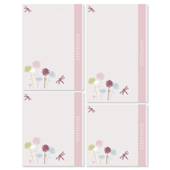 Dragonfly Personalized Notepads Set