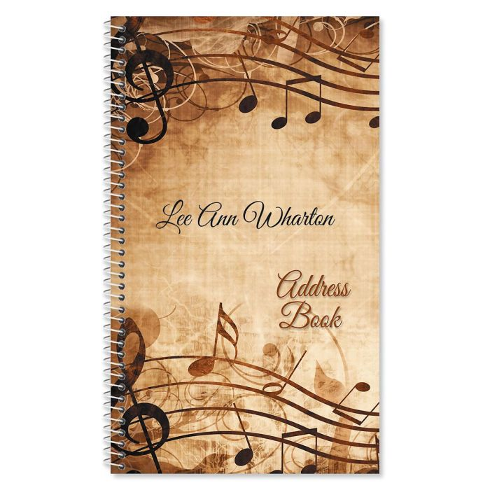 Sheet Music Lifetime Address Book