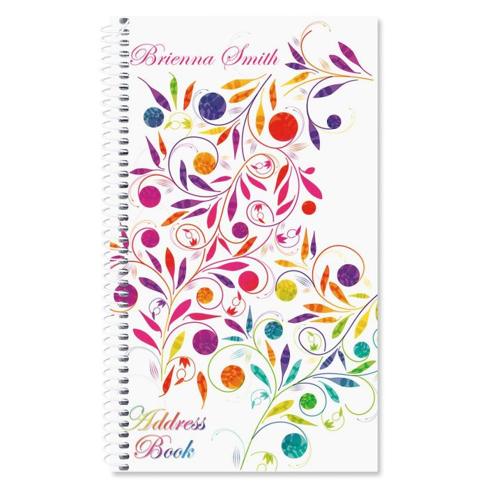 Color Swirl Lifetime Address Book
