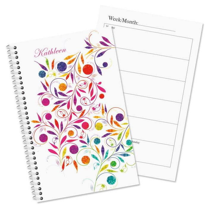 color swirl personalized weekly planner current catalog