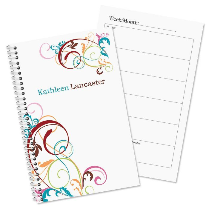 Fantasia Personalized Weekly Planner