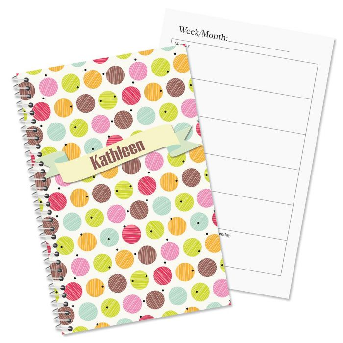 doodle dots personalized weekly planner current catalog