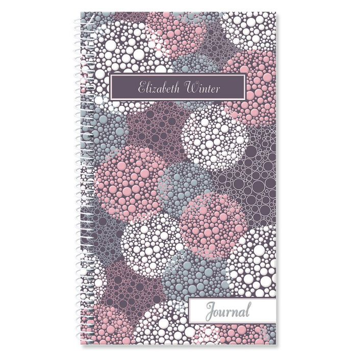 Gray Burst Personalized Journal