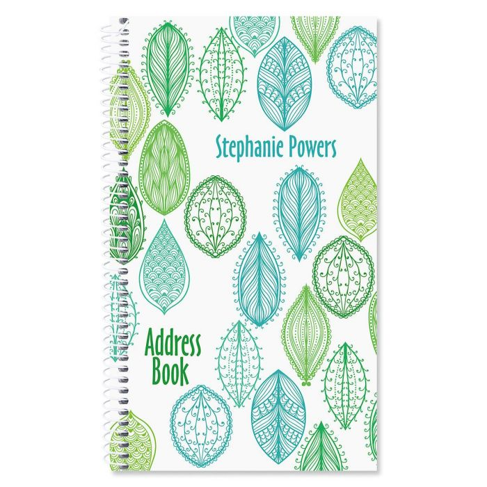 Abstract Leaves Lifetime Address Book