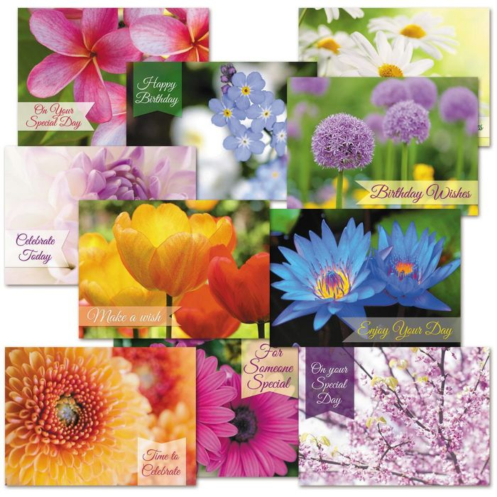 Floral Fantasy Birthday Cards Value Pack
