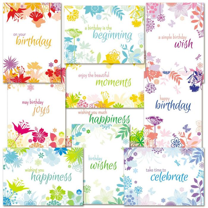 Botanical Birthday Cards Value Pack