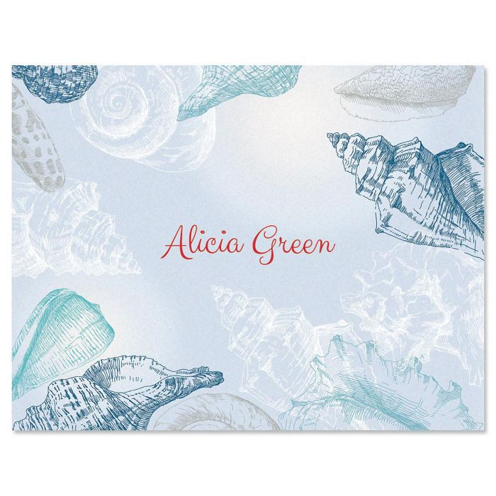 Seashells Personalized Note Cards