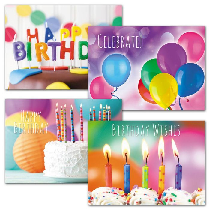 Rainbow Colors Birthday Cards