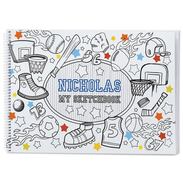 Sports Doodle Personalized Sketchbook