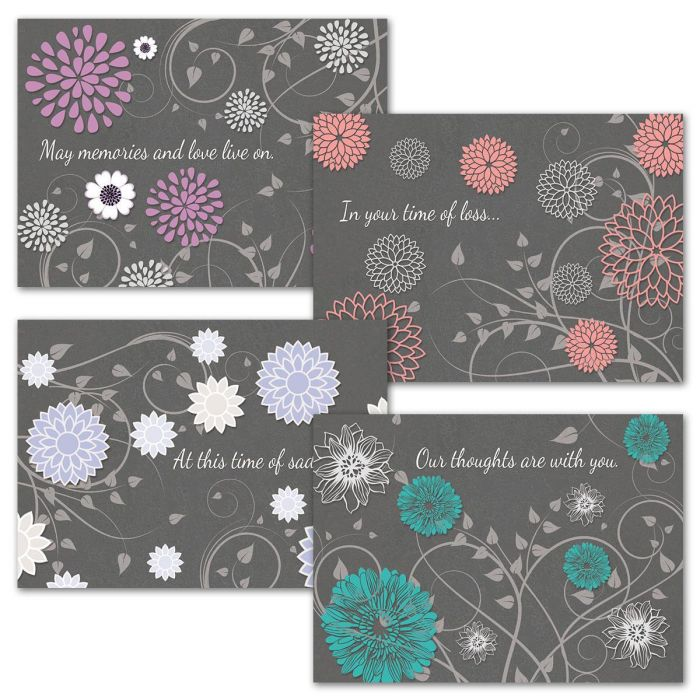 Gray Reflections Sympathy Cards & Seals