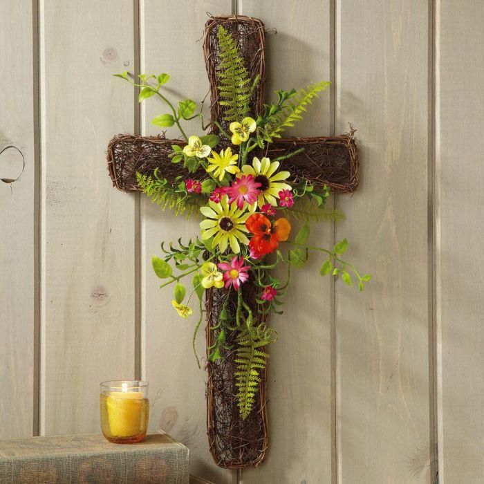 Moss Wildflower Cross