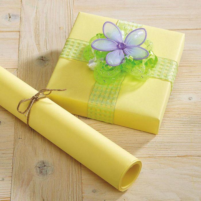 Pastel Yellow Kraft Gift Wrap