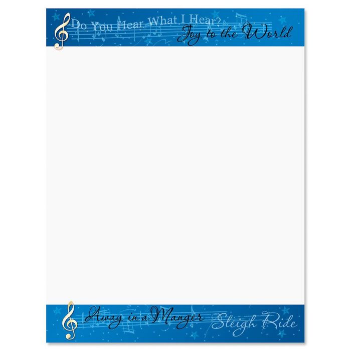 Songs of the Season Christmas Letter Papers