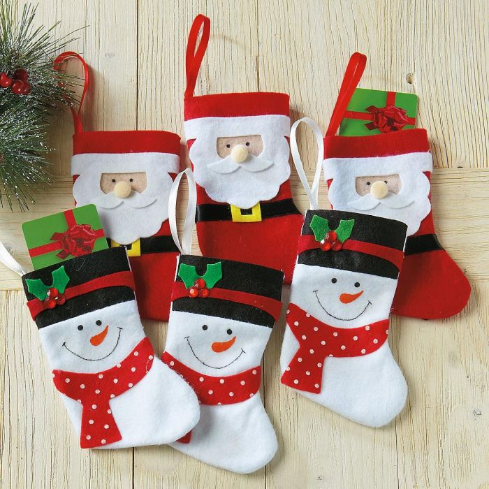 Santa & Snowman Stocking Gift Card Holders