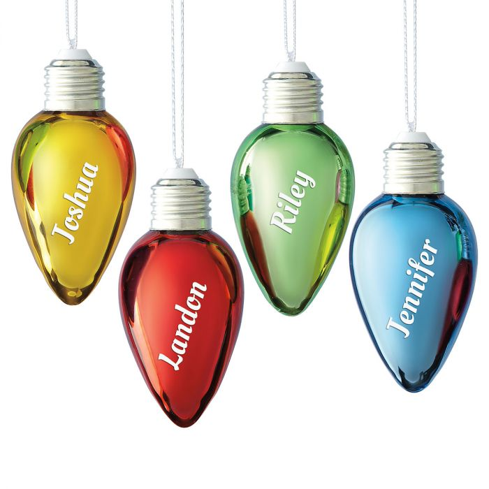 Bulb Personalized Christmas Ornaments