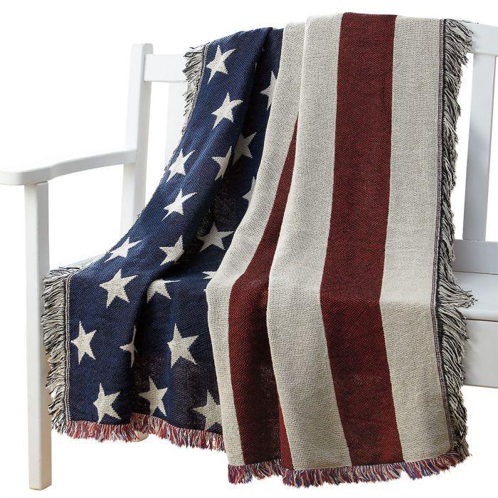 American Flag Throw