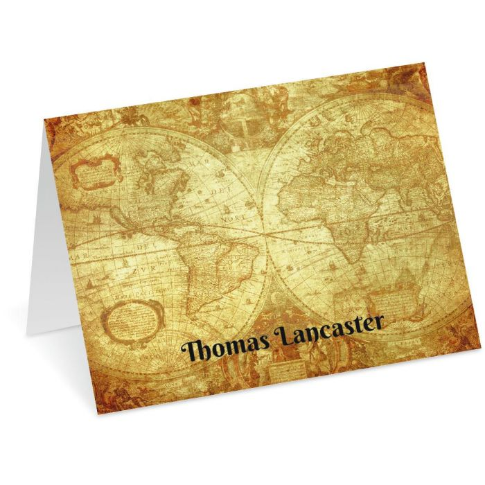 Old World Personalized Note Cards
