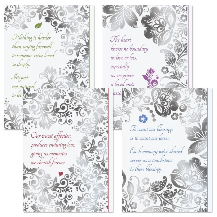 Deluxe Lace Sympathy Cards and Seals