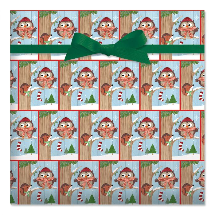 Friendly Chat Jumbo Rolled Gift Wrap