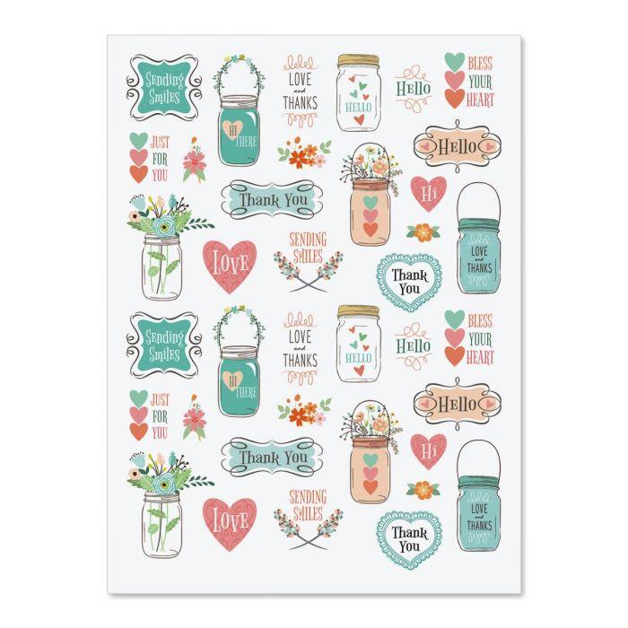 Mason Jar Stickers