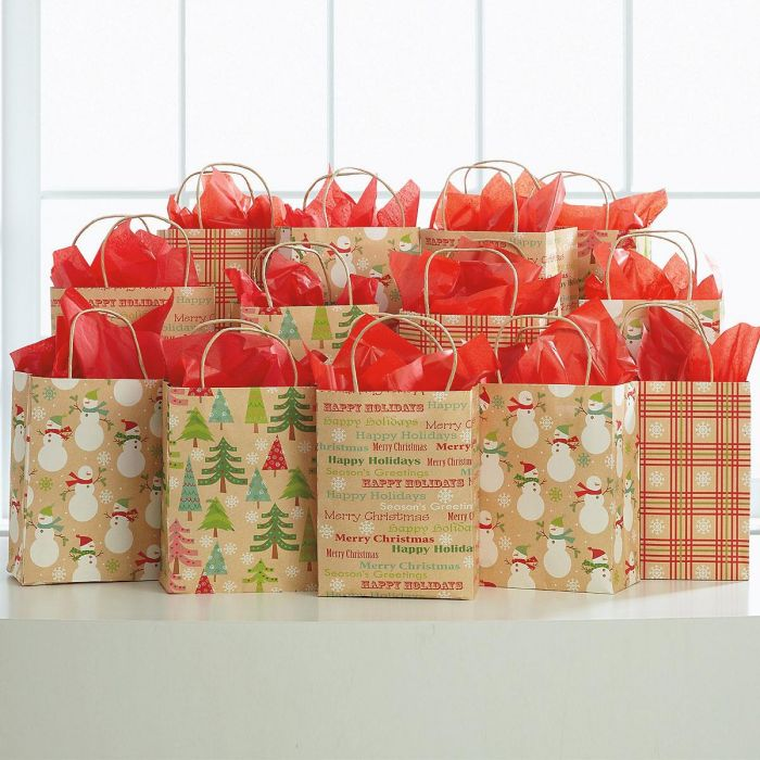 Whimsy Snowflakes Christmas Bag Value Pack