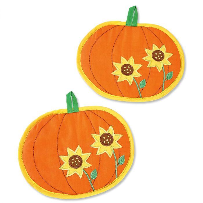 Pumpkin Sunflower Hot Pads