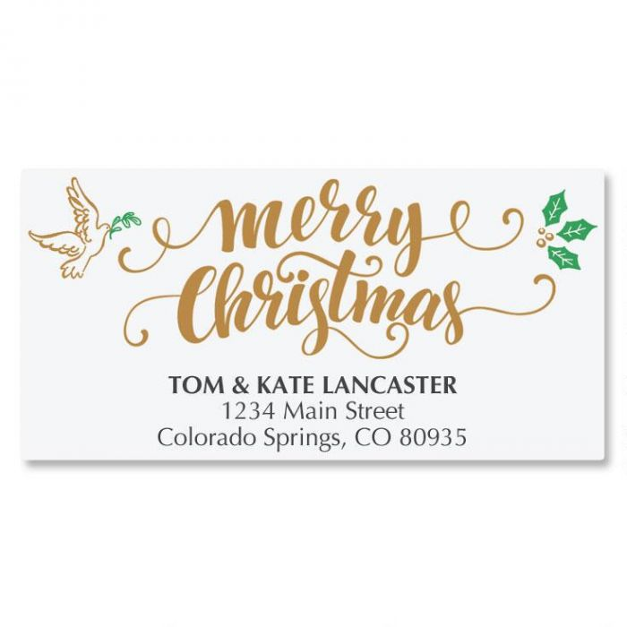 Rejoice Calligraphy Deluxe Address Labels