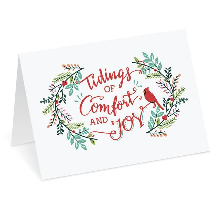 Tidings of Comfort and Joy Christmas Cards - Personalized