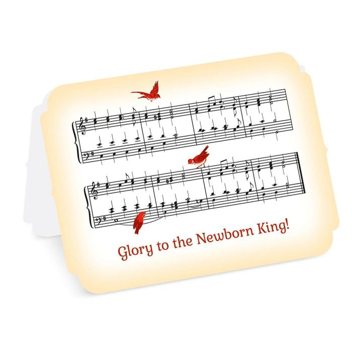 Musical Carol Christmas Cards - Personalized