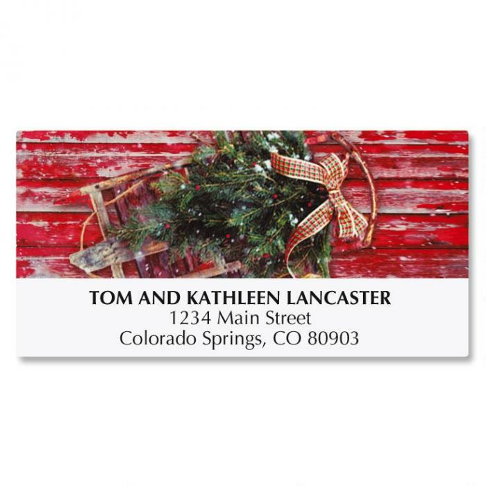 Vintage Holiday Deluxe Address Labels