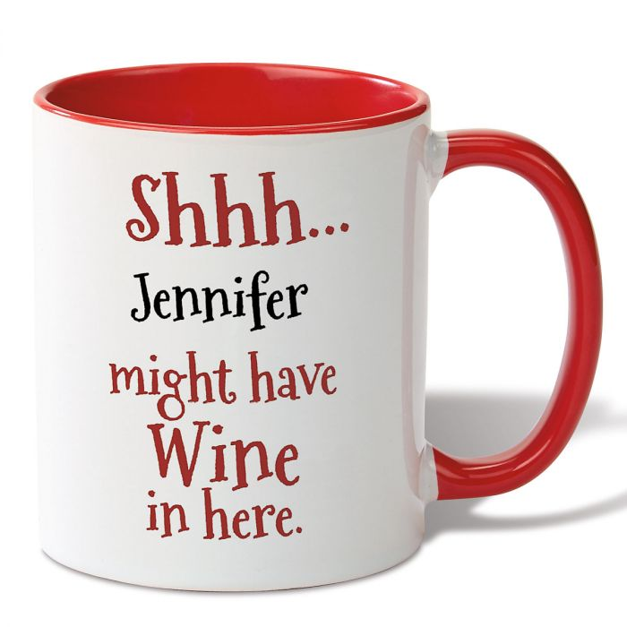 Wine in Here Personalized Mug