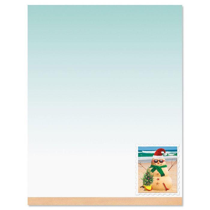 Holiday Sandman Christmas Letter Papers