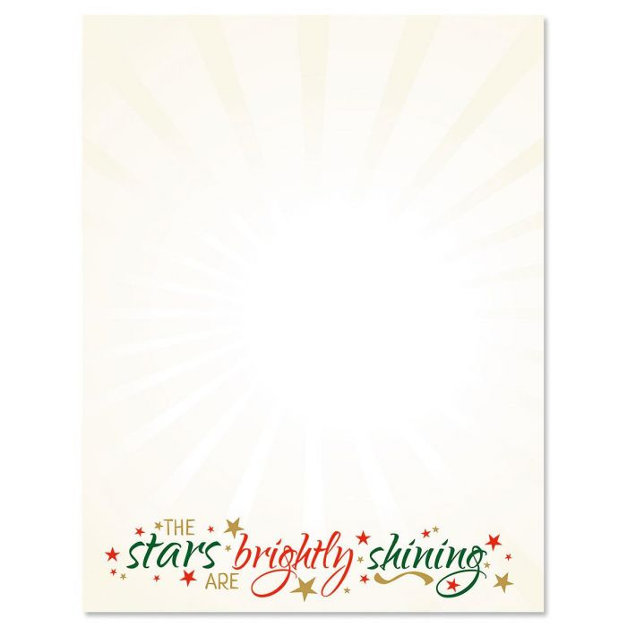 O Holy Night Christmas Letter Papers