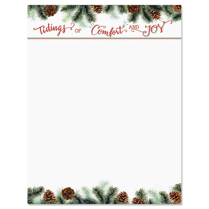 Tidings Christmas Letter Papers