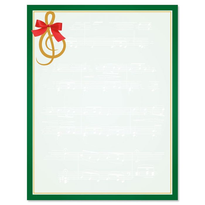 Merry Melody Christmas Letter Papers