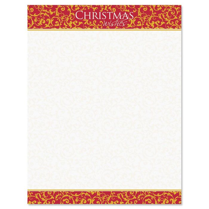 Christmas Wishes Christmas Letter Papers