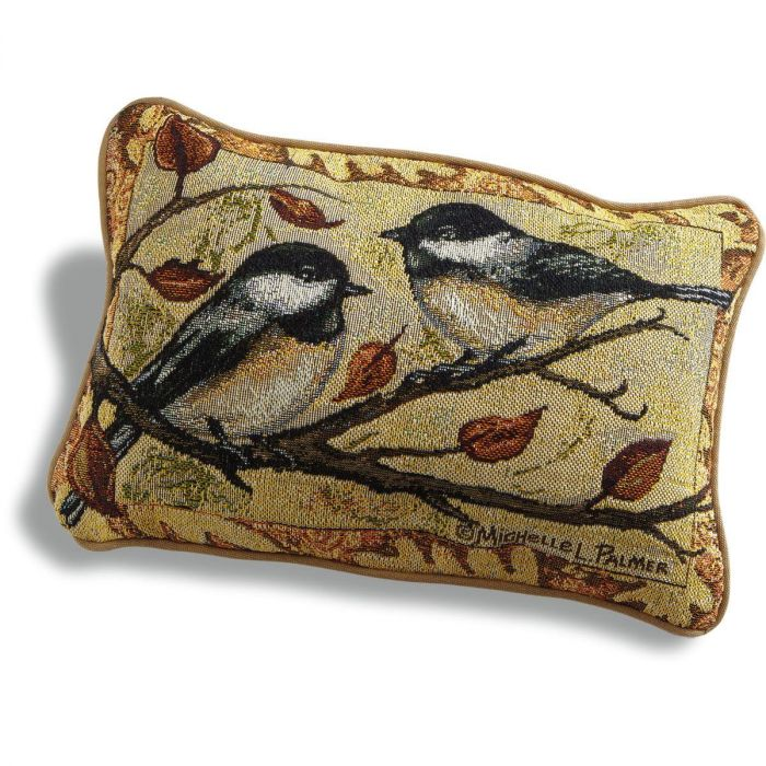 Autumn Chickadee Decorative Pillow